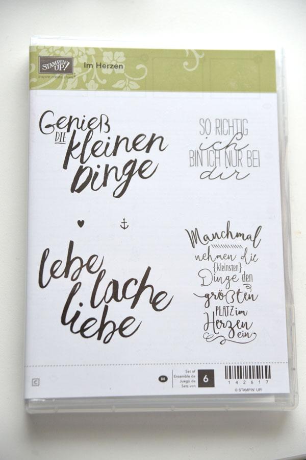 Stampin Up Stempelset Im Herzen puenktchenstempel.de