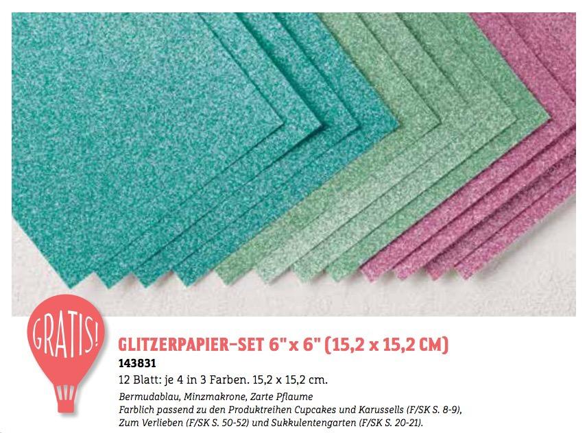 Glitzerpapier-Set 6x6 sale-a-bration stampin' up!