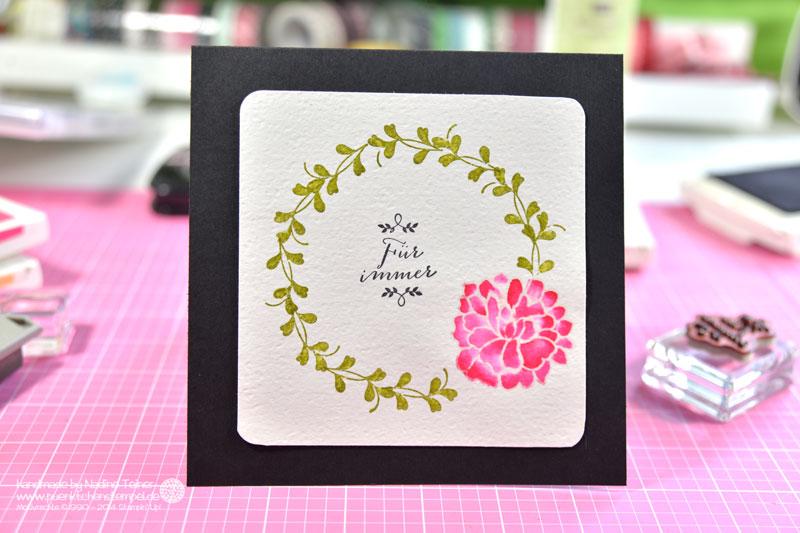 Karte zur Hochzeit bunt coloriert mit Stampin' Up!