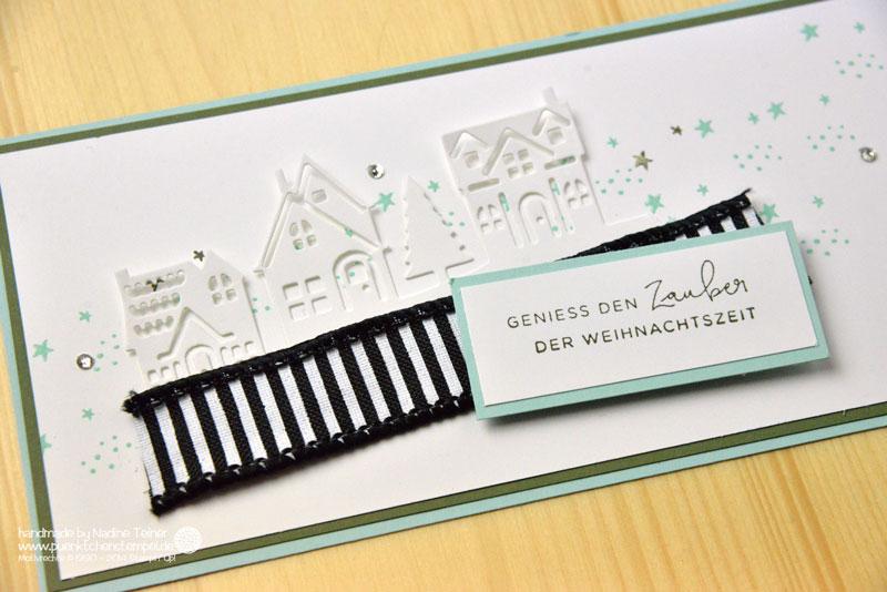 Weihnachtskarte Stampin Up Weihnachten daheim puenktchenstempel.de