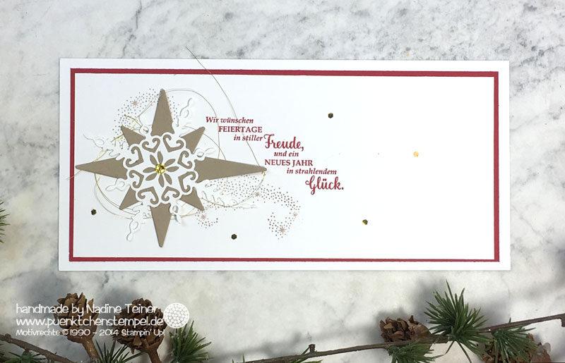 stampin up weihnachtskarte weihnachtsstern