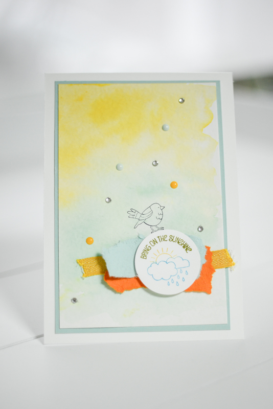 Karte Sunshine Stampin Up_