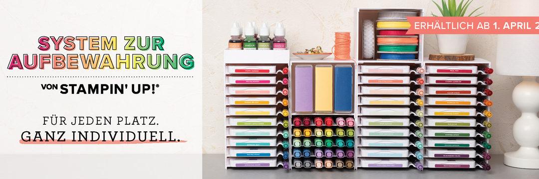 Neues Aufbewahrungssystem für Stempelkissen, Stifte und Zubehör