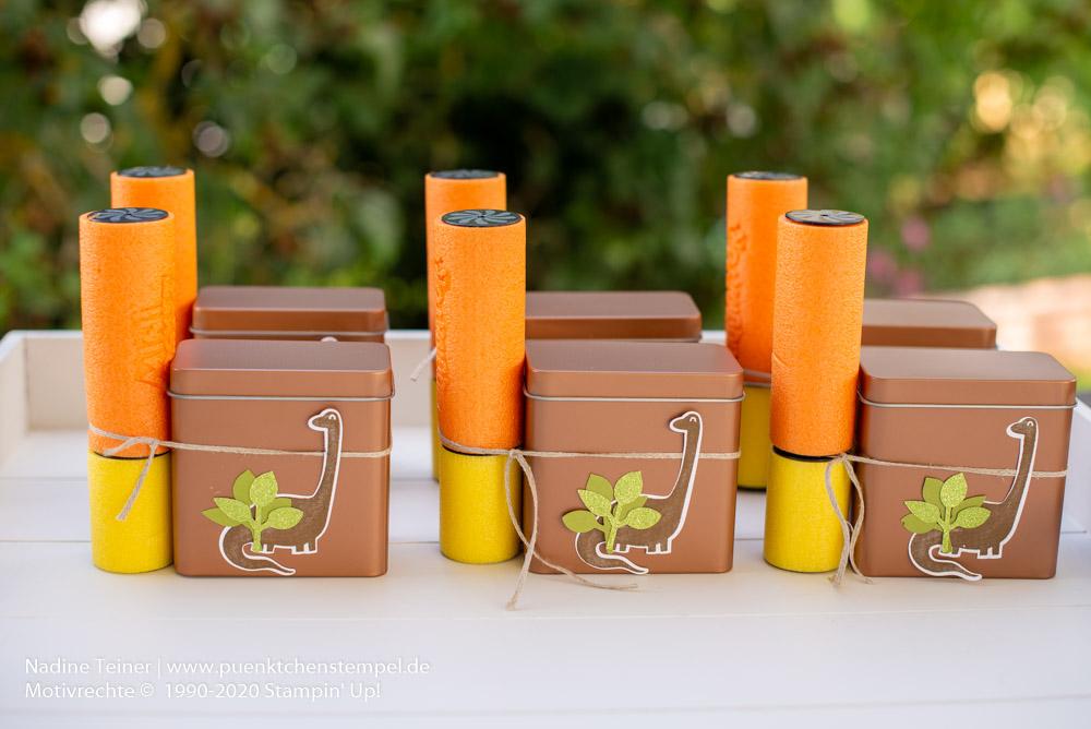 Dinogeburtstag Geschenke Goodies Dinoparty Giveaway Mitgebsel Kindergeburtstag